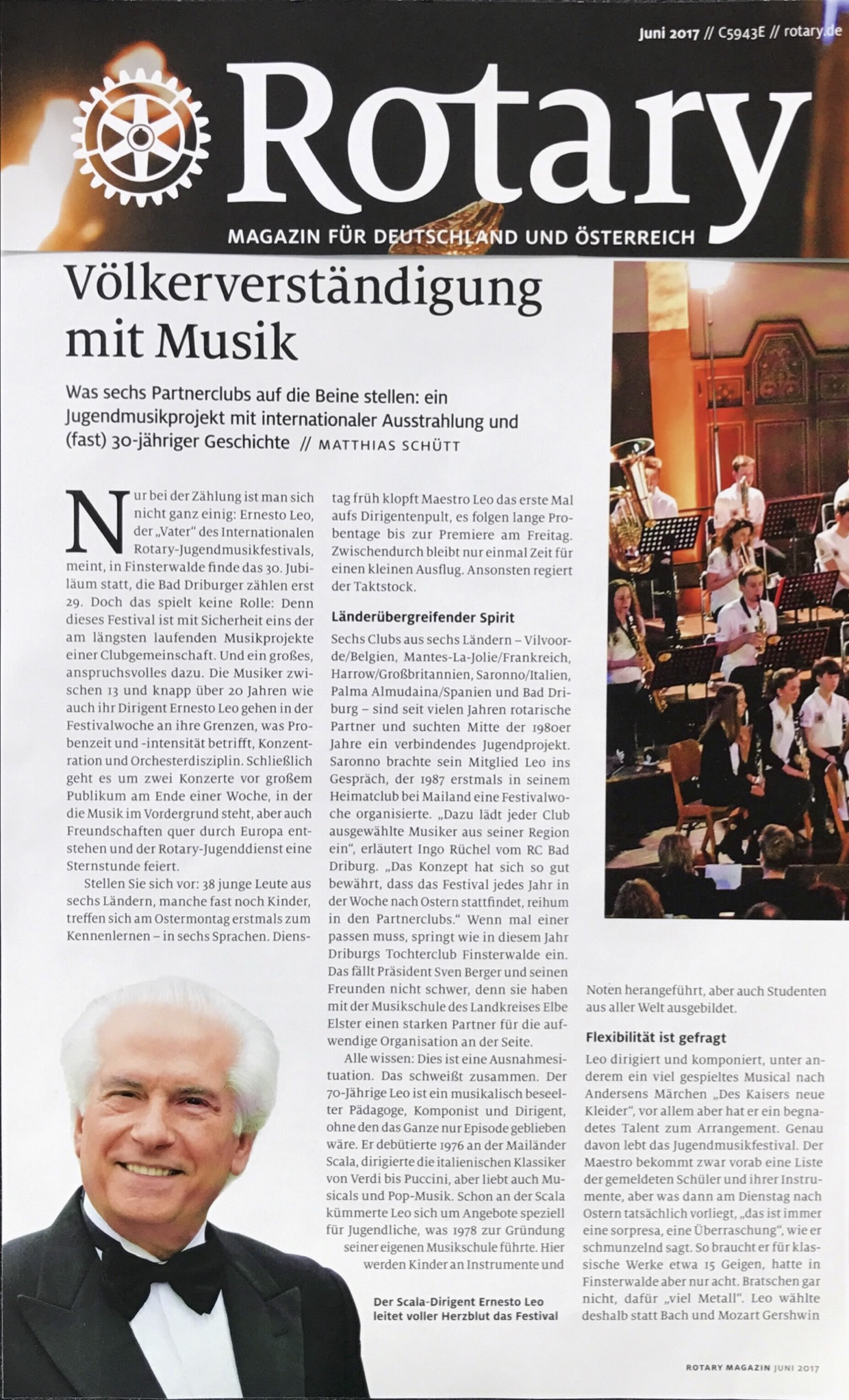 1 Rotary Magazin Bericht Jugendmusikfestival Finsterwalde 062017